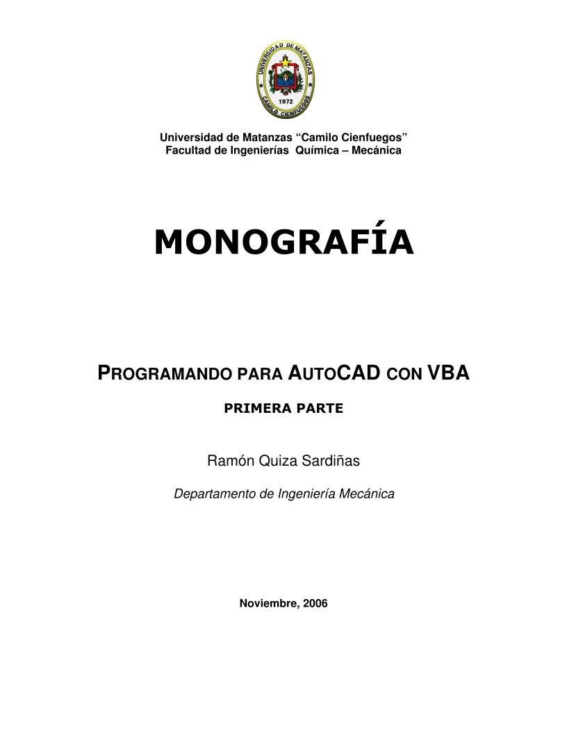 PDF de programación - Programando para AutoCAD con VBA