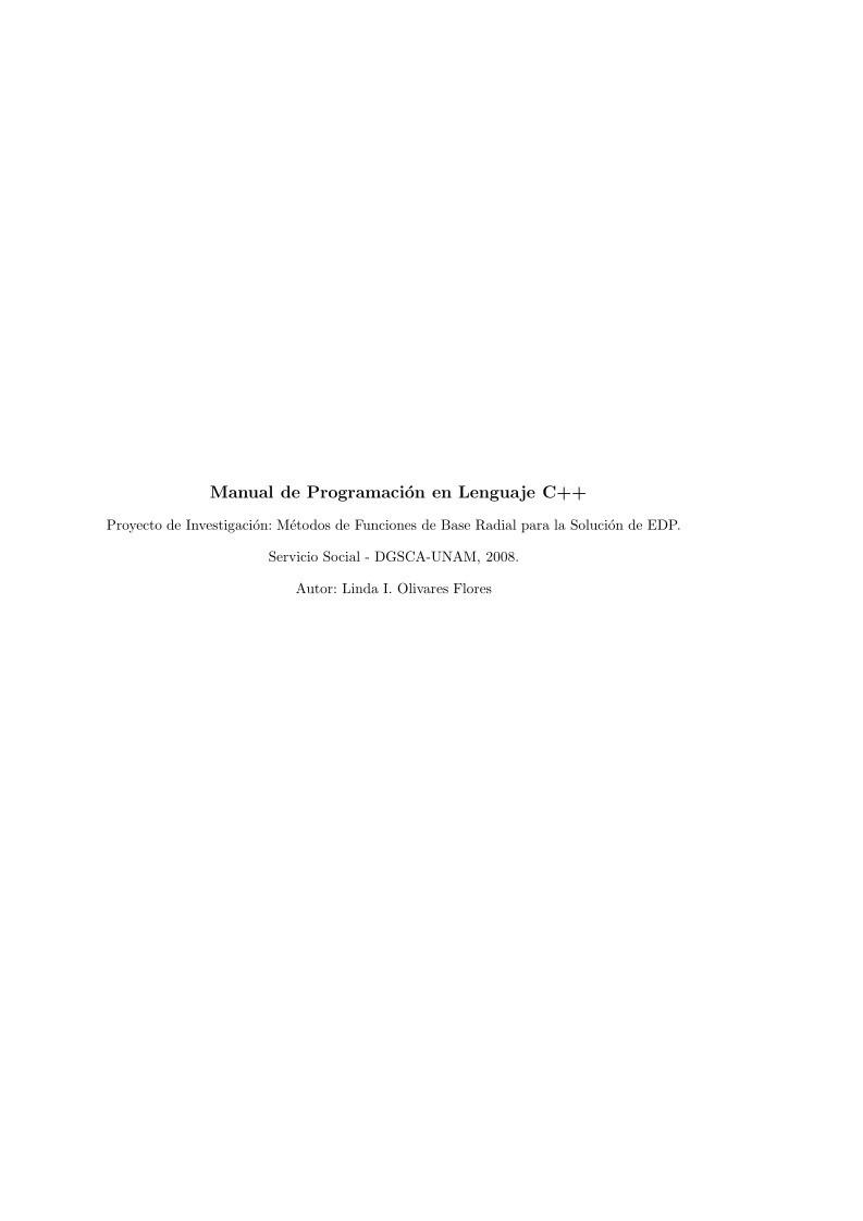 Pdf De Programación Manual De Programación En Lenguaje C