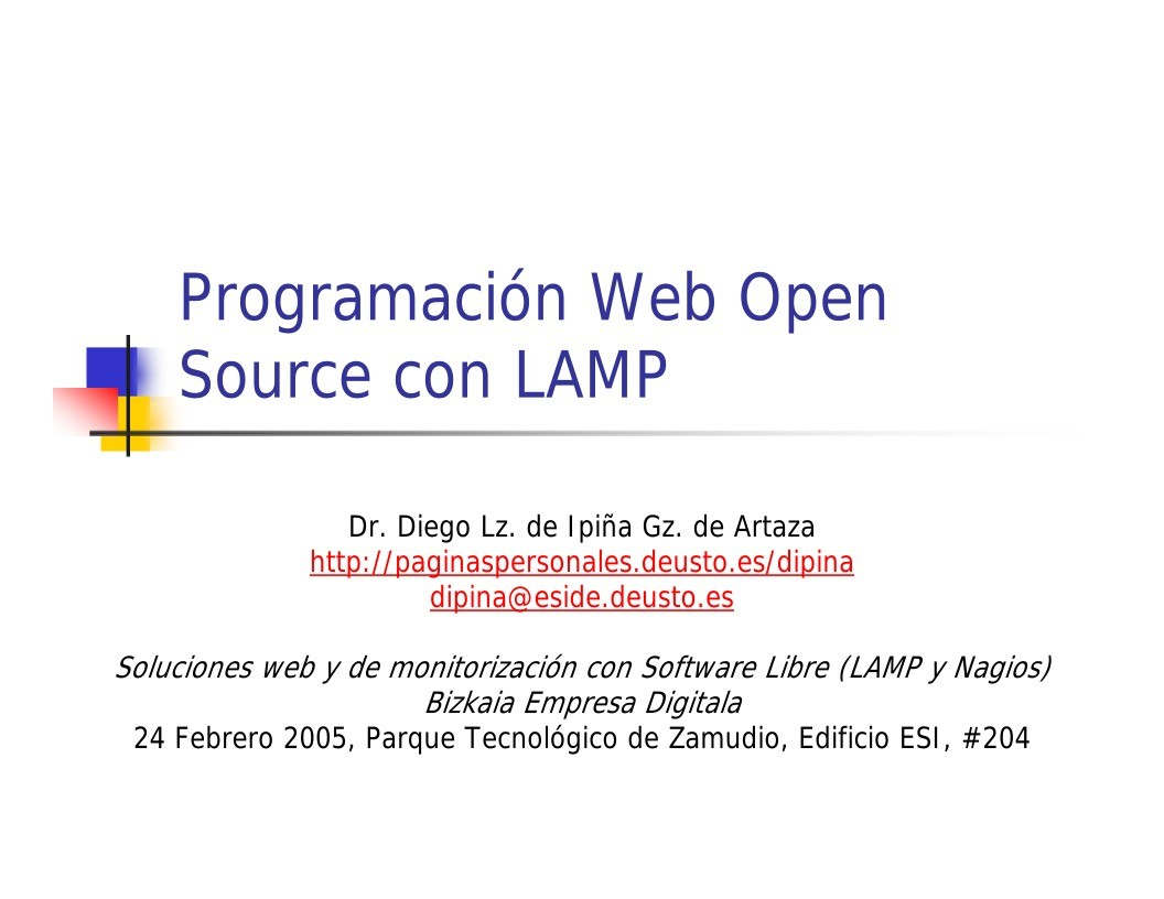 Imágen de pdf Programación Web Open Source con LAMP