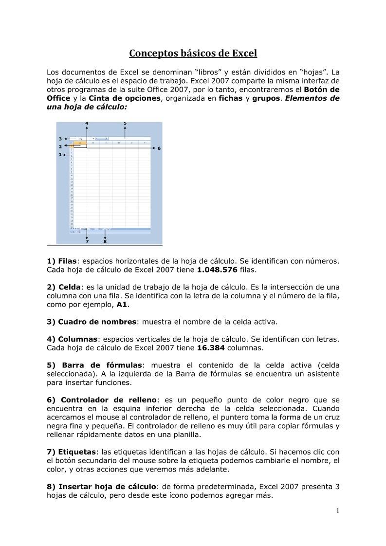 PDF de programación   Conceptos básicos de Excel