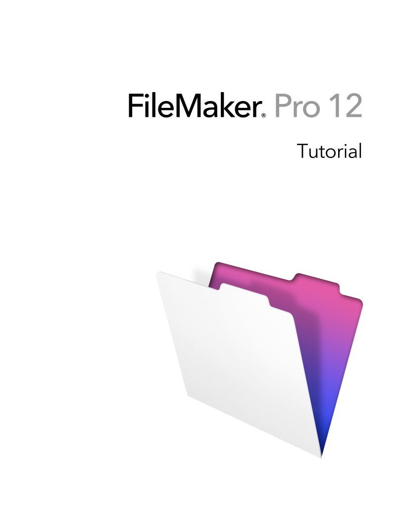 Imágen de pdf FileMaker Pro 12 Tutorial