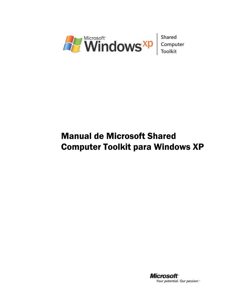 Imágen de pdf Manual de Microsoft Shared Computer Toolkit para Windows XP