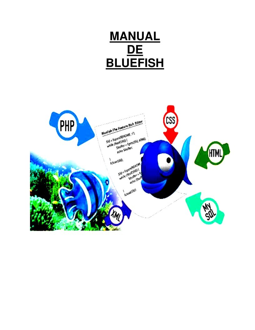 Imágen de pdf Manual de BlueFish