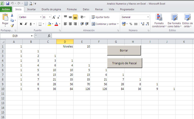 Código de Visual Basic para Aplicaciones - Análisis Numerico
