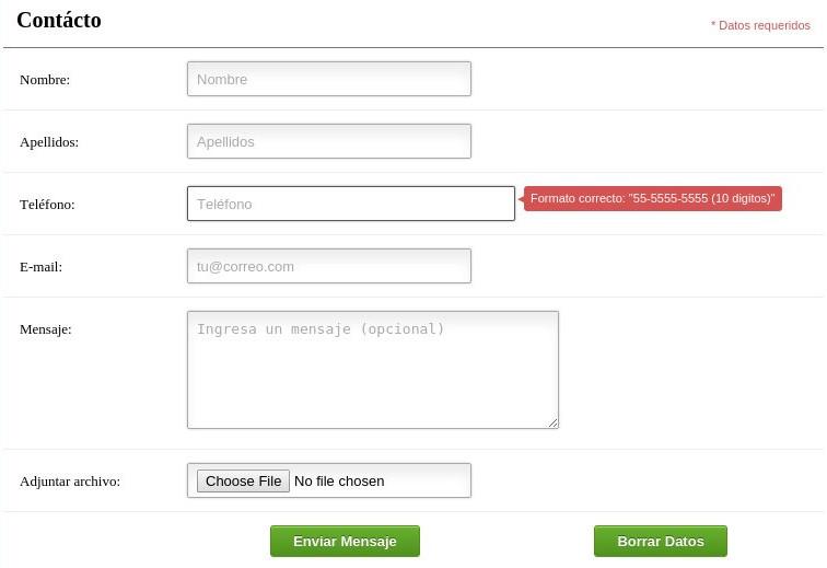 Código de PHP - Formulario de contacto con adjuntos