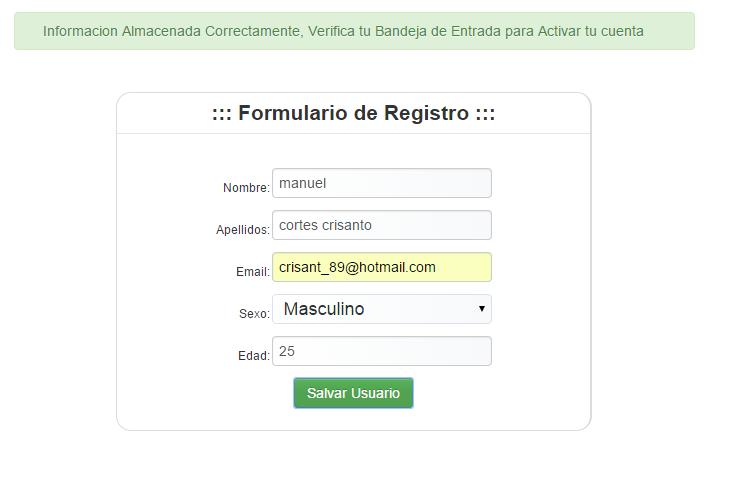 C digo de php activar cuenta via correo electr nico con for Correo la 14