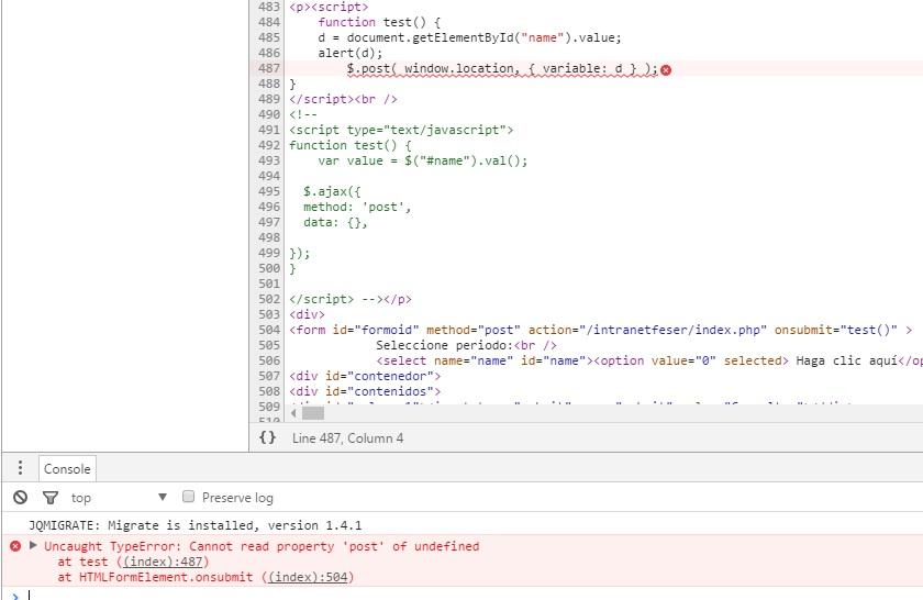 AJAX - Pasar valor de select a PHP con javascript