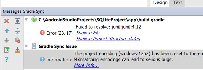 Error 23,17 - Failed to resolve: junit:junit:4.12