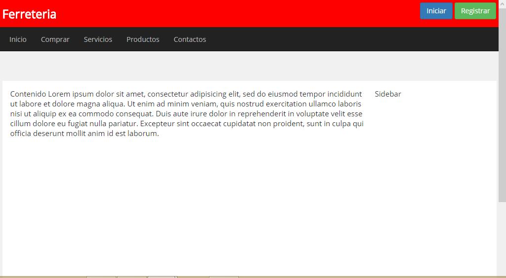 Código de HTML - plantilla creada en html para negocios