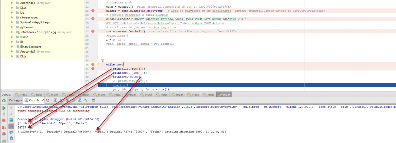 Python coger los datos de una consulta realizada desde sql for Python consul