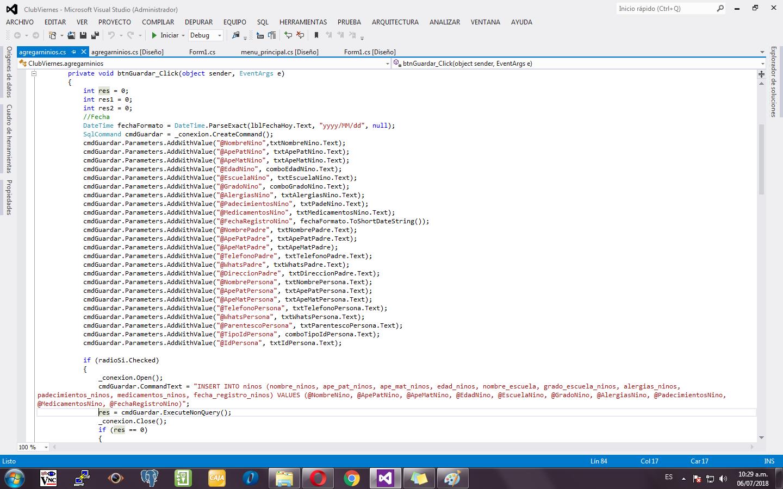 Sql server almacenado c# procedimiento