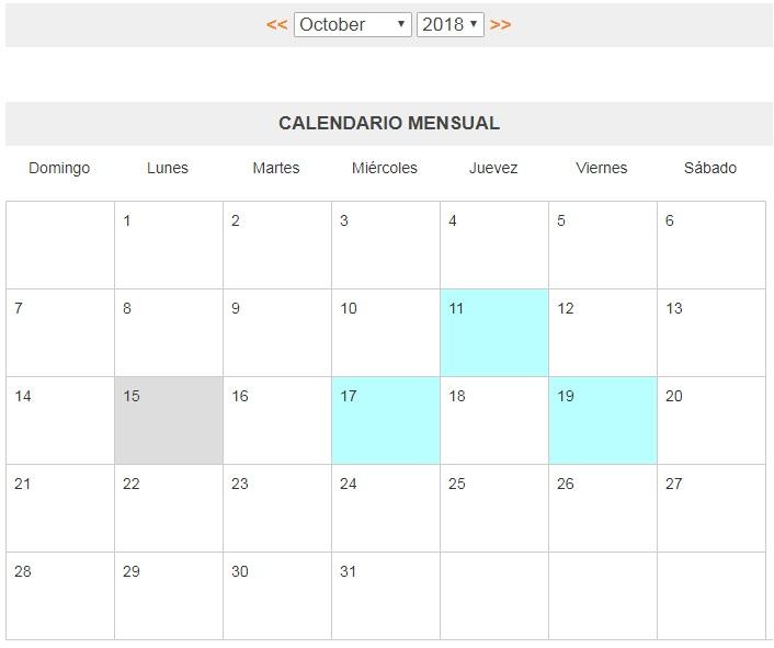 Calendario Php.Php Eventos Fullcalendar Con Php Y Mysql